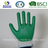 раковина полиэфира 13G с покрынными нитрилом перчатками работы (SL-N107)