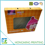 Kundenspezifische Pappe-Belüftung-Fenster-Baby-Kleidung, die Kasten verpackt