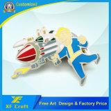 Distintivo opaco su ordinazione del mestiere dello smalto del nichel dei lanciafiamme del metallo del fornitore con il prezzo più basso (XF-BG22)