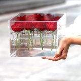 9、16、25の36本のばらのためのハンドメイドの明確なアクリルの花ボックス