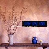 큰 크기 전기 6 손가락 7 세그먼트 LED 벽 시간 기록계