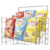 소매점 금속 감자 칩 식사 저장 진열대 선반
