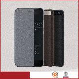 Het originele Geval van de Dekking van de Slaap van het Geval van de Tik van het Leer Slimme voor Huawei P10