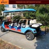 Heißer Passagier-elektrische Jagd-Golf-Karre des Verkaufs-8 (hintere Sitze des rückseitigen Kippens)