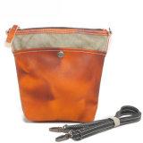 Wasserdichte Segeltuch-Mädchen-Wachs-Segeltuch-Gewebe-Schulter-Einkaufstasche (RS-6008)