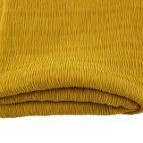100% Polyester Crepe Crinkle Tecido para Vestuário