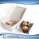 Caixa de empacotamento de papel do cartão customizável para o bolo do alimento (xc-fbk-040)