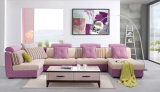 Sofá seccional de la sala de estar de la esquina del sofá de la tela