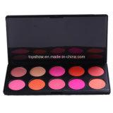 Het privé Etiket Geen Embleem 10 de Make-up van de Kleur bloost de Schoonheidsmiddelen van het Palet van het Poeder van het Rouge van het Gezicht H10