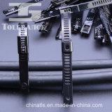 에폭시 코팅 PVC SS304 (316) 사다리 형 자동 잠금 스테인레스 스틸 케이블 타이