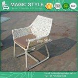 Cadeira de tecelagem de flores Móveis de exterior Conjunto de café Cadeira de jantar de ratã Cadeira de café Cadeira de jantar de pátio Cadeira de clube