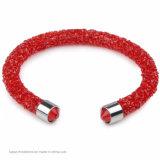 Bracelete de cristal simples e duplo de strass Pavimentado Bracelete de cristal de tubo para jóias de homem e mulher (TB-single bangle 001)