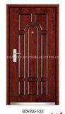 良質の鋼鉄外部の木のドア(WX-SW-101)