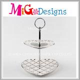 Placa Multilayer cerâmica elegante do bolo da Mão-Impressão