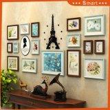 Peinture à l'huile encadrée par tenture en bois noire décorative pour la décoration de Chambre
