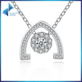 New Design White Gold Shinning Clear para Wowen CZ Flowers Pendant Necklace