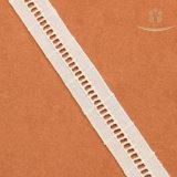 Laços brancos da listra do laço quente do algodão da forma do projeto da escada da venda H20001 para a decoração da roupa