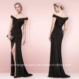 Großhandelsnixe-Kleid Weg-DSchulter reizvolle schwarze Abend-spezielle Gelegenheits-Kleider