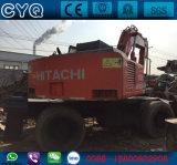 Máquinas escavadoras usadas da roda de Hitachi Ex160wd da roda para a venda