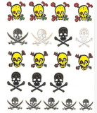 Halloween 유행 두개골 임시 물 이동 못 스티커