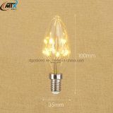 E12 E14 샹들리에 램프 1W C35 LED 꼬이는 초 전구