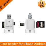 Lector de tarjetas de Microsd+SD para el androide del iPhone de OTG como mecanismo impulsor del flash del USB (YT-R003)