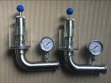 Выпускной вентиль тавра Ss304 Ss316L Santhai санитарный
