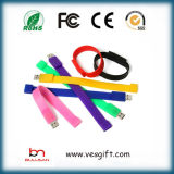 Presente Promocional USB Silicone Pulseira USB de marca Pendrive