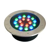 lampada sotterranea di RGB LED Inground dell'indicatore luminoso del LED messa 18W esterna