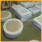 Custom Cheap Guangxi White Marble / Stone Round Coffee / Dinner Table Top Countertop