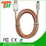 Цветной кожаный шнур USB для передачи данных