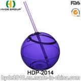 [16وز/450مل] يحرّر بلاستيك [ببا] [ديسك برتي] كرة فنجان, بلاستيكيّة يشرب كرة فنجان مع تبن ([هدب-2014])