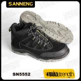 Zapatos de seguridad de cuero industriales con la nueva planta del pie de PU/PU (Sn5552)