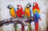 Buntes abstraktes Ölgemälde für Vögel
