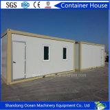 Casa modular del envase de la casa móvil del hogar del envase del bajo costo del material de construcción de acero ligero