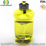 Нов портативная подгонянная 2.2L пластичная бутылка воды с контейнером, кувшином спорта 2.2L BPA свободно пластичным (HDP-3031)