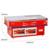 Congélateur frigorifié et congelé de consommation inférieure de fruits de mer pour le supermarché