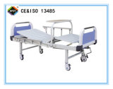 (A-95) Cama de hospital manual Double-Function movible con la pista de la base del ABS