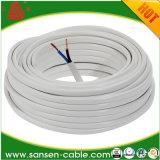 Fio elétrico flexível Sheathed liso do PVC H05vvh2-F 2g1.0mm2