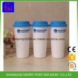 Venta caliente del logotipo personalizado impreso 18oz tazas de café, 500 ml Taza de café plástica