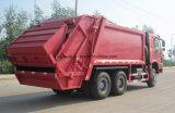 Camion del costipatore dei rifiuti di compressione dell'immondizia di HOWO 16mt