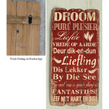 Estilo Europeo Decoración de Hogar Wall Art Signos de madera