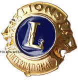 Insigne de souvenir avec de l'or plaqué pour le cadeau international de lions