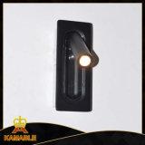 Lâmpada de parede Rotatable de alumínio do diodo emissor de luz do sulco do quarto do projeto do hotel (KM-01)
