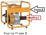 Motor de gasolina 5HP do pisco de peito vermelho com frame e acoplamento do círculo