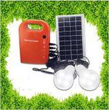 système d'alimentation solaire de générateur de C.C de ménage portatif du panneau solaire 5W petit avec les ampoules à énergie solaire