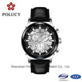 腕時計の人の贅沢なブランドの自動本革のリスト・ストラップの機械メンズウォッチ