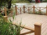 Decking composé en plastique en bois d'horizontal et projet de construction de WPC
