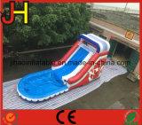 팽창식 거대한 파도 유형은 아이를 위한 말리거나 물 미끄럼