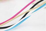 Кабель данным по USB цветастого Weave Nylon для сотового телефона женщины USB 3.0 Mico